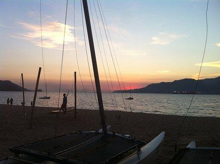 Sunset, Beach, Mar, Ilhabela