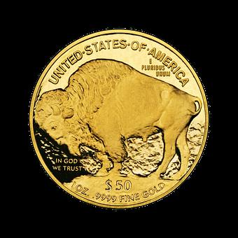 Nickel, 24 Karat, Coin, Gold, Bull, Wertvolll, Jewel