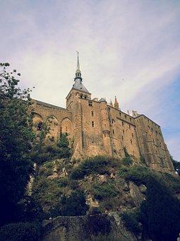 Normandy, Mont Saint Michel, Abbey