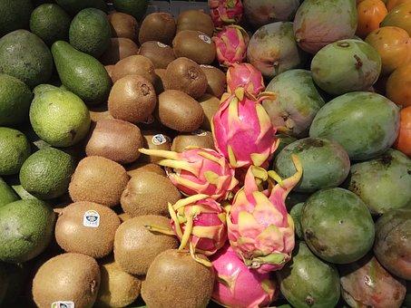 Fruit, Market, Dragon Fruit, Food, Ripe, Produce