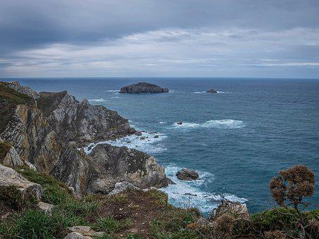 Asturias, Coast, Rocks, Nature, Ocean, Sea, Spain