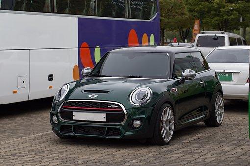 Car, Mini, Rover Mini, Germany, Green, Cute, Little