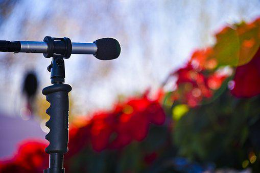 Microphone, Concert, Holiday, Christmas, Audio, Sound