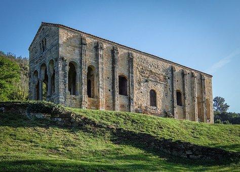 Oviedo, Spain, Church, Romance, Asturias, Europe