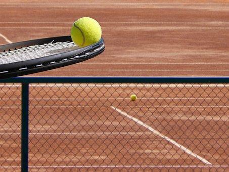 Tennis, Ball, Racket, Court, Racquet, Tennis Ball