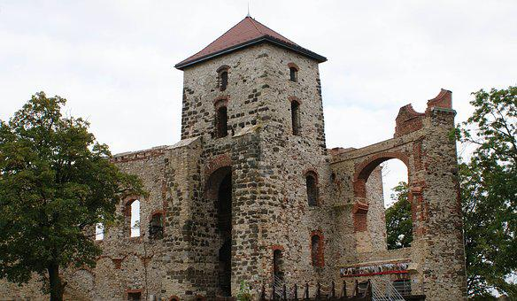 The Ruins Of The, Castle, View, Walls, Monument