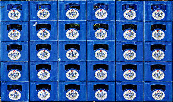 Beer Boxes, Crates, Stacked, Stack, Tragl, Tragerl