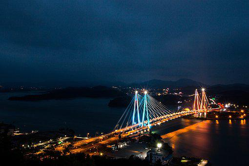 Travel, Sea, Beach, Nature, Jindo, South Korea, Bridge