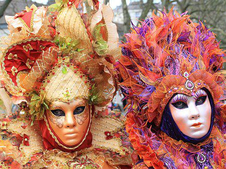 Carnival, Masks, Venetian, Disguise, Annecy