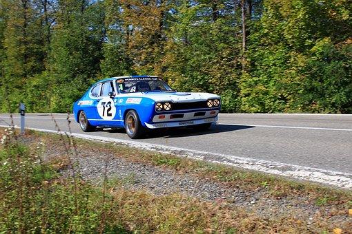 Car, Ford Capri Rs 2600, Racing Car, Veteran, Vehicle