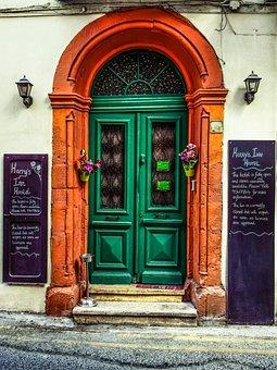 Door, Wooden, Vintage, Old, Antique, Inn, Architecture