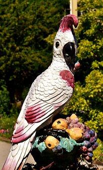 Figure, Parrot, Bird Figurine, Deco, Ceramic