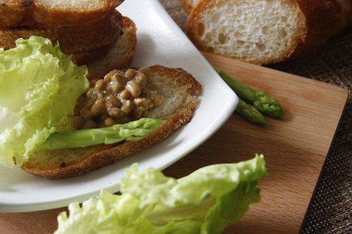 Bread, Natto, Food