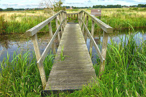 Ditch, Canal, Bridge, Rural, Countryside, Nature