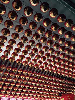 Chinese, Temple, Lantern, Singapore, East, Taoism