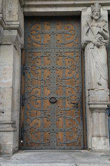 Church Door, Portal, Door, Input, Church, Ornament, Old