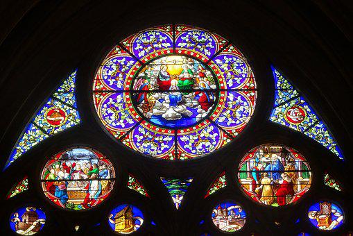 Stained Glass Windows, Church, Religion, Heritage