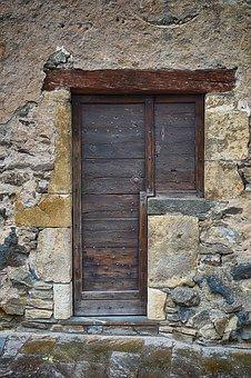 Door, Old Door, Door Wood, Old Stones, Entry