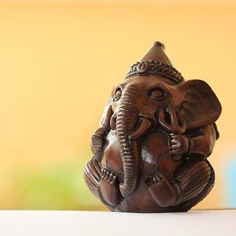 Ganesh, Ganesha, Yellow, God, Hindu, Religion, Elephant
