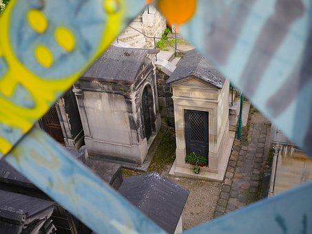 Paris, Graveyard, Sacre Coer, France, Cemetery