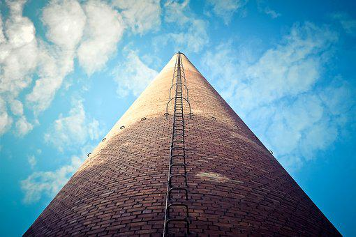 Chimney, Building, Coking Plant, Bill, Leave, Industry