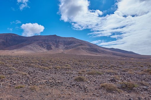 Desert, Karg, Stones, Sky, Wölken, Blue, Tenerife