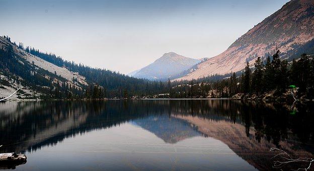 Mountain, Lake, Sawtooth Mountains, Backpacking