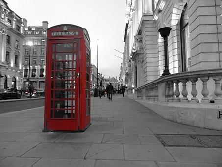 London, Phone Booth, English, United Kingdom, Red
