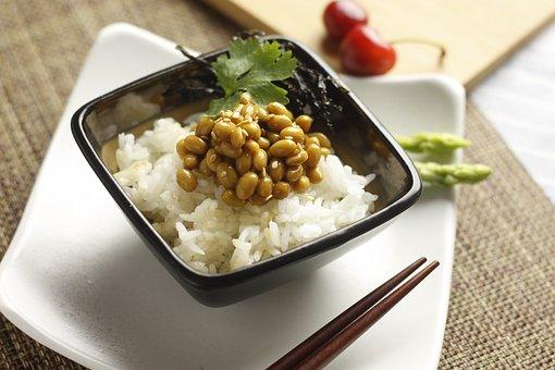 Rice, Natto, Food