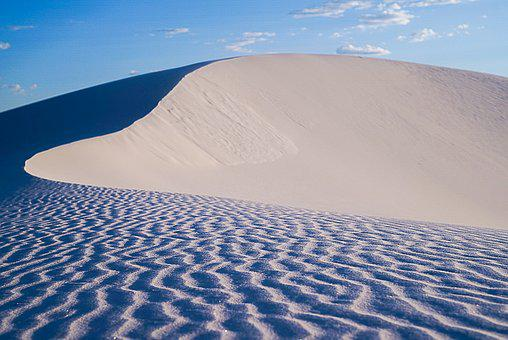 Dunes, Sand, White Sands, New Mexico, Shadows, Desert