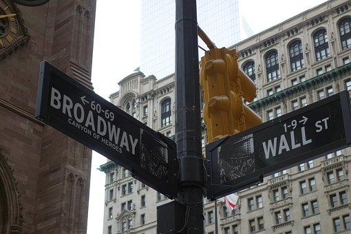 New York, Road, Broadway, Wall Street, City, Manhattan