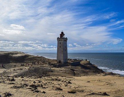 Lighthouse, Rubric, North Sea, Denmark