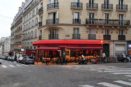 Street, Paris, France, Europe, City, Architecture