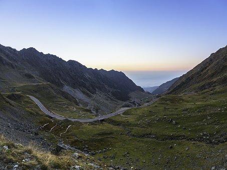 Transfagarasan, Road, Mountain, Romania, Frost, Forest