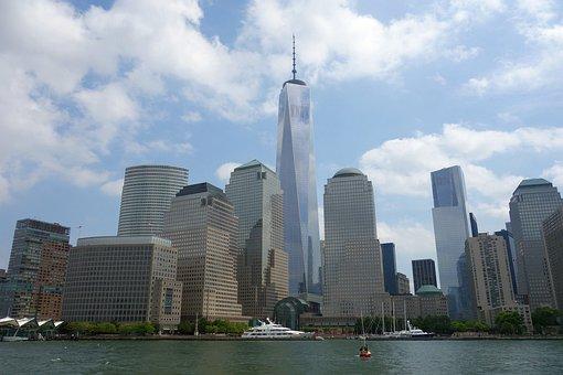 New York, Skyline, World Trade Center, Usa, Manhattan