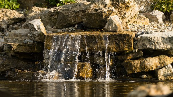 Water, Waterfall, Pond, Dashing, Cascade, Stream