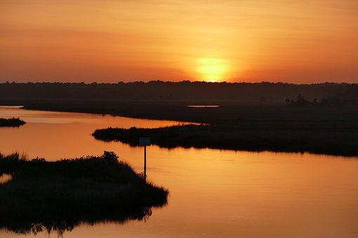 Florida, Sunrise, Water, Nature, Dawn, Tourism, Morning