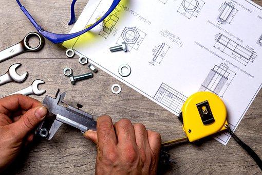 Tool, Repair, Work, Metal, Roulette, Wrench, Drawing