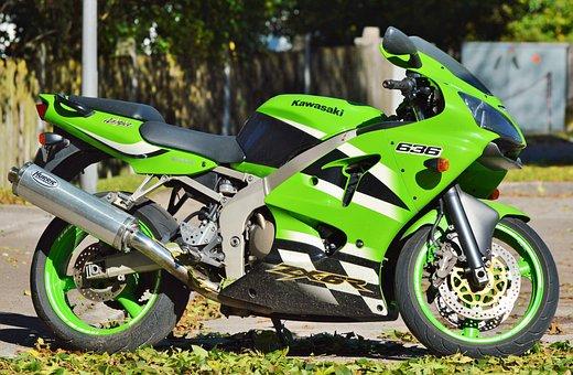 Motorcycle, Kawasaki, Zx6r, Exhaust, Vehicle, Chrome