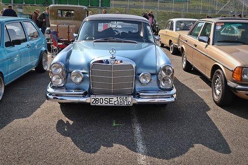 Mercedes, 280 Se, Oldtimer, Cabrio, Grill, 1968