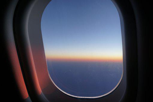 Window Seat, Sunrise In The Skies, Daybreak, Airplane