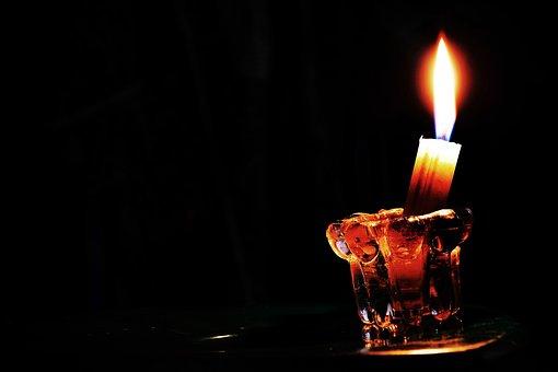 Candle, Light, Flame, Fire, Night, Dark, Black