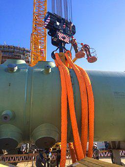 The Reactor Vessel, Nuclear Power Plant, Crane