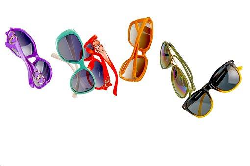 Sunglasses, Filter, Beach, Drop, Multi Color, Rim