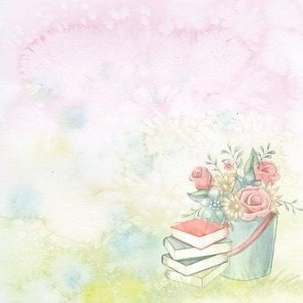 Blank, Background, Watercolor, Template, Flower, Garden