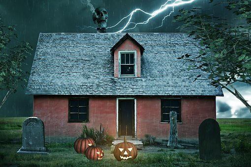 Haunted House, House, Haunted, Halloween, Spooky, Night