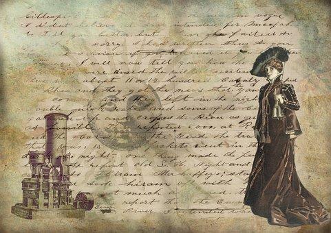 Vintage, Lady, Victorian, Victorian Lady, Steampunk