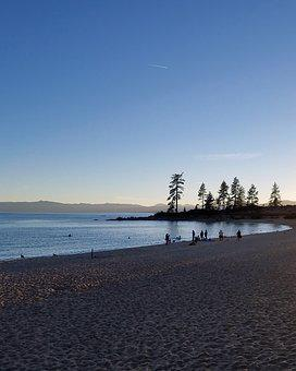 Lake Tahoe, Blue, Lake, Water, Tahoe, Sky, California