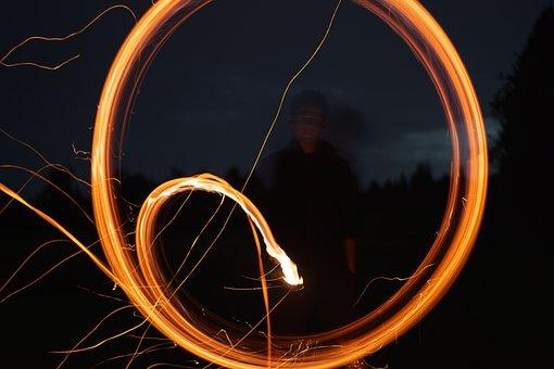 Lightpainting, Night, Glowing, Glow, Shiny