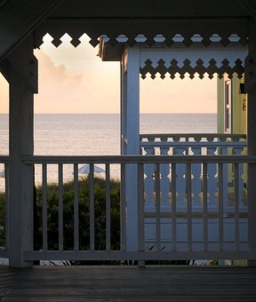 Sea, Balcony, Ocean, Summer, Veranda, Nature